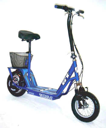 GT Trailz Electric Scooter with Seat and Front Suspension! Oustanding Value!